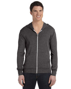 Charcoal Triblend Unisex Triblend Full-Zip Lightweight Hoodie