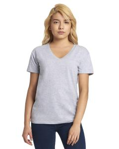 Heather Gray Ladies' Relaxed V-Neck T-Shirt