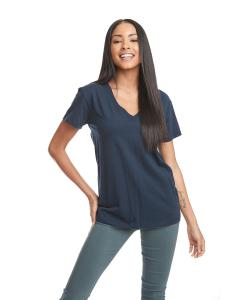 Midnight Navy Ladies' Relaxed V-Neck T-Shirt