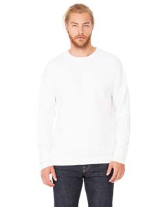 White Unisex Drop Shoulder Fleece