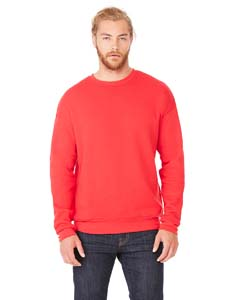 Red Unisex Drop Shoulder Fleece