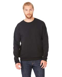 Black Unisex Drop Shoulder Fleece