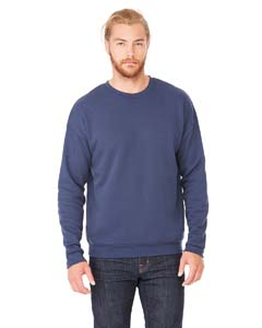 Navy Unisex Drop Shoulder Fleece