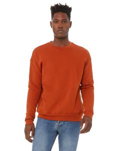 Brick Unisex Drop Shoulder Fleece