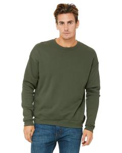 Military Green Unisex Drop Shoulder Fleece