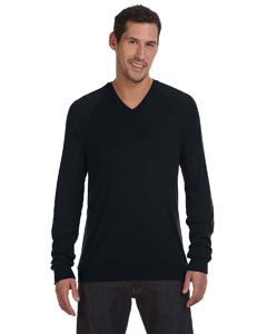 Black Unisex V-Neck Lightweight Sweater
