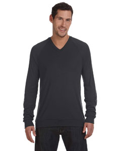 Dk Grey Heather Unisex V-Neck Lightweight Sweater