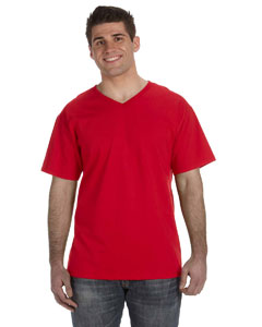 True Red 5 oz., 100% Heavy Cotton HD™ V-Neck T-Shirt