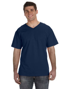 J Navy 5 oz., 100% Heavy Cotton HD™ V-Neck T-Shirt