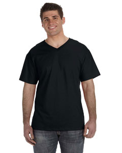 Black 5 oz., 100% Heavy Cotton HD™ V-Neck T-Shirt