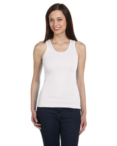 White Ladies' 2x1 Rib Tank