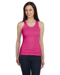 Raspberry Ladies' 2x1 Rib Tank