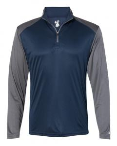 Navy/ Graphite Adult Ultimate SoftLock™ Sport Quarter-Zip Pullover