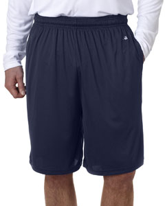 "Navy Adult B-Core 10"" Shorts with Pockets"