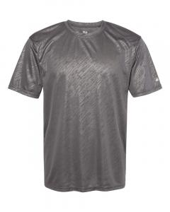 Graphite Line Embossed Adult Line Embossed T-Shirt