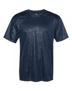 Navy Line Embossed Adult Line Embossed T-Shirt