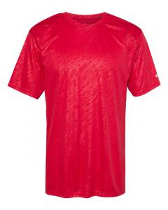 Red Line Embossed Adult Line Embossed T-Shirt