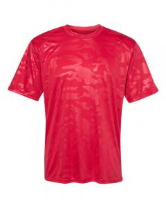 Red Monocam Adult Monocam Embossed T-Shirt