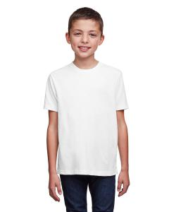 White Youth Eco Performance Crewneck T-Shirt