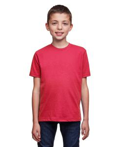 Heather Red Youth Eco Performance Crewneck T-Shirt