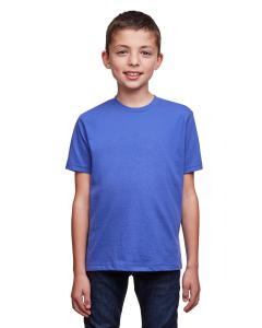 Heather Sapphire Youth Eco Performance Crewneck T-Shirt