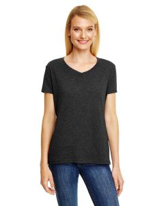 Sol Black Trblnd Ladies' X-Temp® Triblend V-Neck T-Shirt