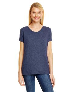 Navy Triblend Ladies' X-Temp® Triblend V-Neck T-Shirt