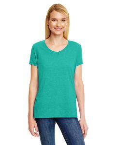 Brzy Green Trbln Ladies' X-Temp® Triblend V-Neck T-Shirt