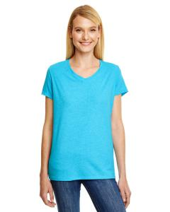Turquoise Trblnd Ladies' X-Temp® Triblend V-Neck T-Shirt