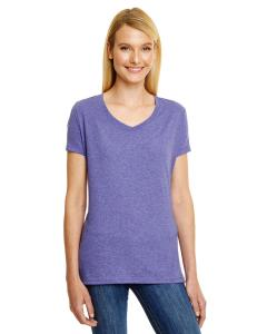 Grape Triblend Ladies' X-Temp® Triblend V-Neck T-Shirt