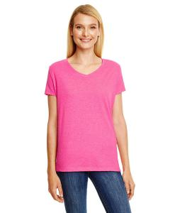 Jzzbrry Pnk Trbl Ladies' X-Temp® Triblend V-Neck T-Shirt