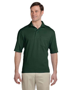 Forest Green 5.6 oz., 50/50 Jersey Pocket Polo with SpotShield™