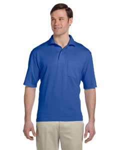 Royal 5.6 oz., 50/50 Jersey Pocket Polo with SpotShield™