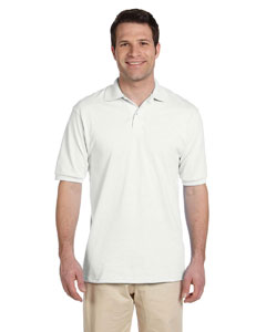 White Men's 5.6 oz., 50/50 Jersey Polo with SpotShield™