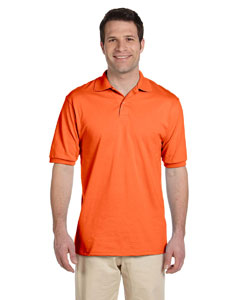 Safety Orange Men's 5.6 oz., 50/50 Jersey Polo with SpotShield™