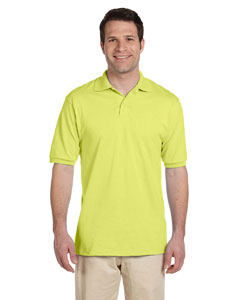 Safety Green Men's 5.6 oz., 50/50 Jersey Polo with SpotShield™