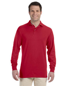True Red 5.6 oz., 50/50 Long-Sleeve Jersey Polo with SpotShield™