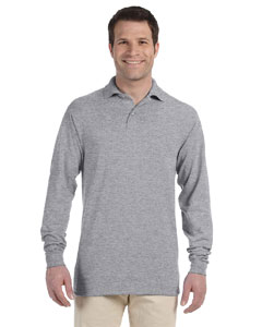 Oxford 5.6 oz., 50/50 Long-Sleeve Jersey Polo with SpotShield™