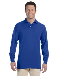Royal 5.6 oz., 50/50 Long-Sleeve Jersey Polo with SpotShield™