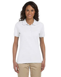 White Ladies' 5.6 oz. SpotShield™ Jersey Polo