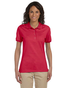 True Red Ladies' 5.6 oz. SpotShield™ Jersey Polo