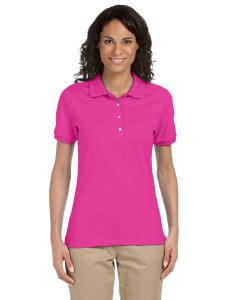 Cyber Pink Ladies' 5.6 oz. SpotShield™ Jersey Polo