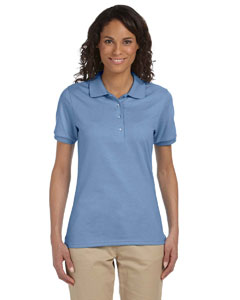 Light Blue Ladies' 5.6 oz. SpotShield™ Jersey Polo
