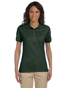 Forest Green Women's 5.6 oz., 50/50 Sport Shirt with SpotShield™