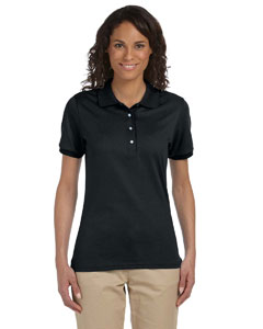 Black Ladies' 5.6 oz. SpotShield™ Jersey Polo