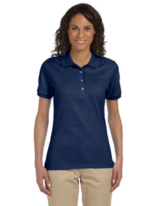 J Navy Ladies' 5.6 oz. SpotShield™ Jersey Polo