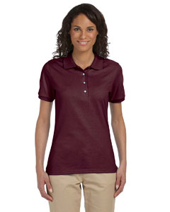Maroon Ladies' 5.6 oz. SpotShield™ Jersey Polo