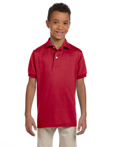 True Red Youth 5.6 oz., 50/50 Jersey Polo with SpotShield™