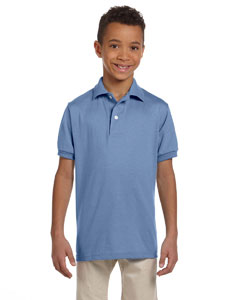 Light Blue Youth 5.6 oz., 50/50 Jersey Polo with SpotShield™