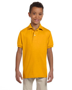 Gold Youth 5.6 oz., 50/50 Jersey Polo with SpotShield™